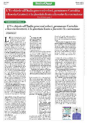 Anteprima documento L'europa chiede all'Italia processi più veloci. Promuove Cartabia, boccia Gratteri.