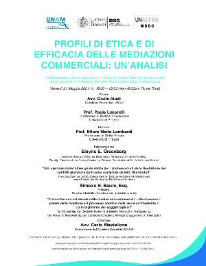 Anteprima locandina Profili di etica e di efficacia delle mediazioni commerciali: un'analisi