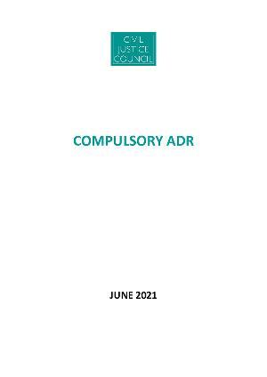 Anteprima documento Compulsory Adr