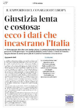 Anteprima documento Giustizia lenta e costosa: ecco i dati che incastrano l'italia