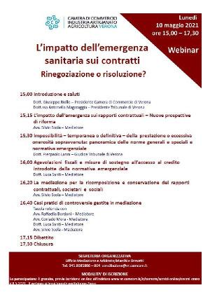 Anteprima locandina L'impatto dell'emergenza sanitaria sui contratti. Rinegoziazione o risoluzione?